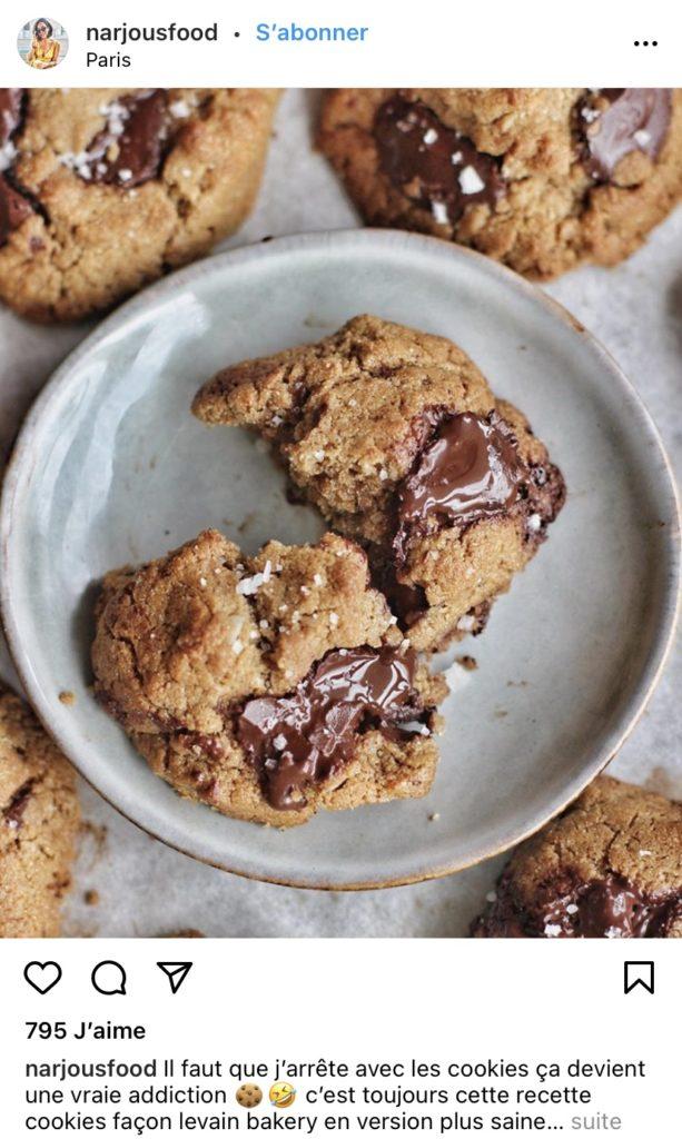 Cookies au chocolat par Narjousfood